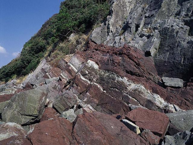 赤色頁岩と蒸発岩