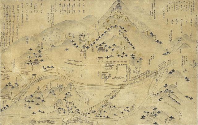 安芸吉田郡山城古図